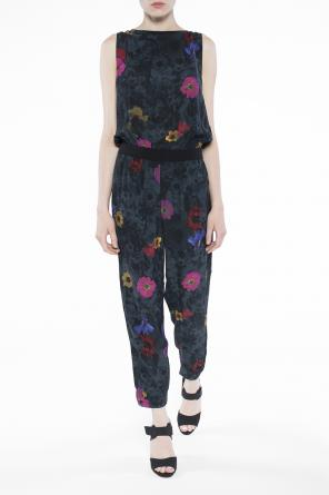 Cut-out back patterned jumpsuit od Diesel