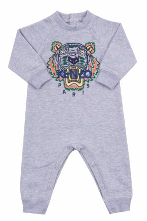 Onesie with an embroidered tiger head od Kenzo Kids