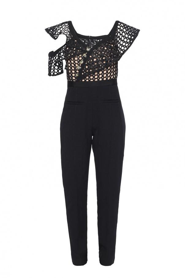 e95b9997631 Lace-trimmed asymmetric jumpsuit Self Portrait - Vitkac shop online
