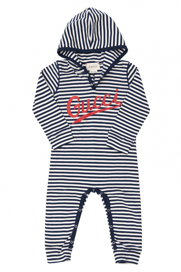 Gucci Kids Hooded one-piece