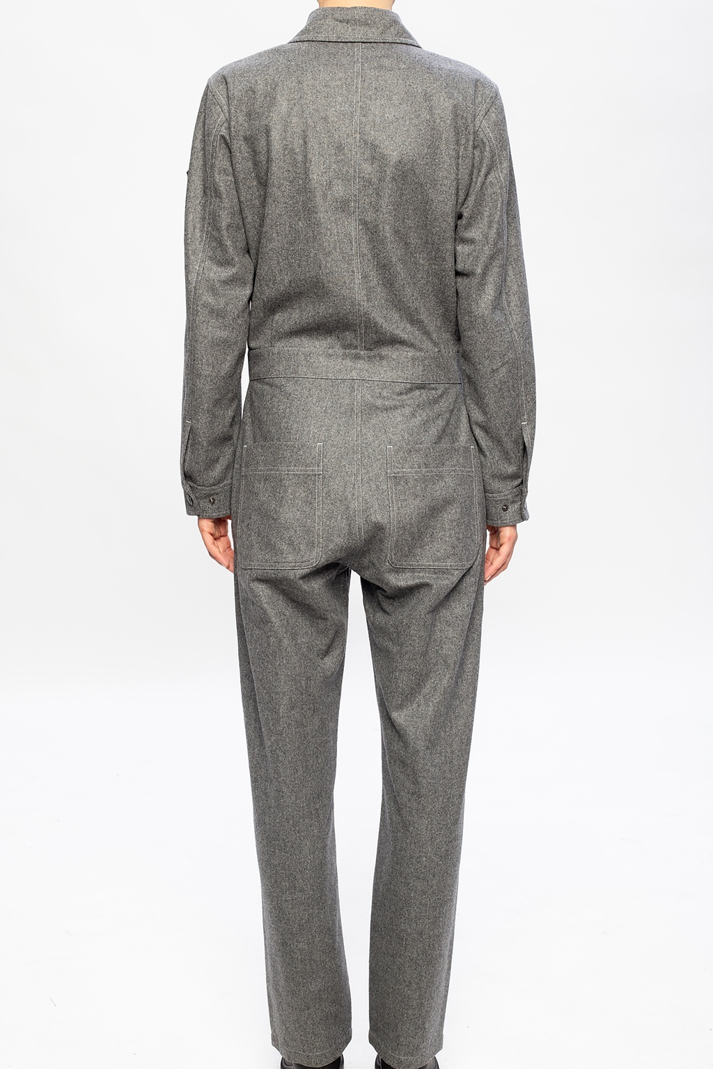 Moncler 'O' Wool jumpsuit with logo