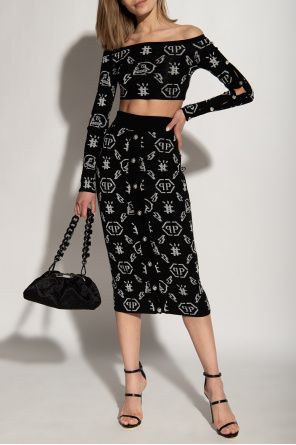 Patterned crop top & skirt od Philipp Plein