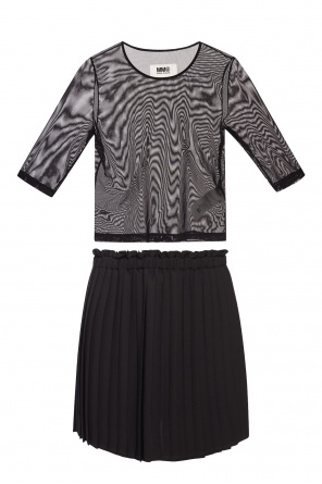 Pleated skirt & sheer top od MM6 Maison Margiela