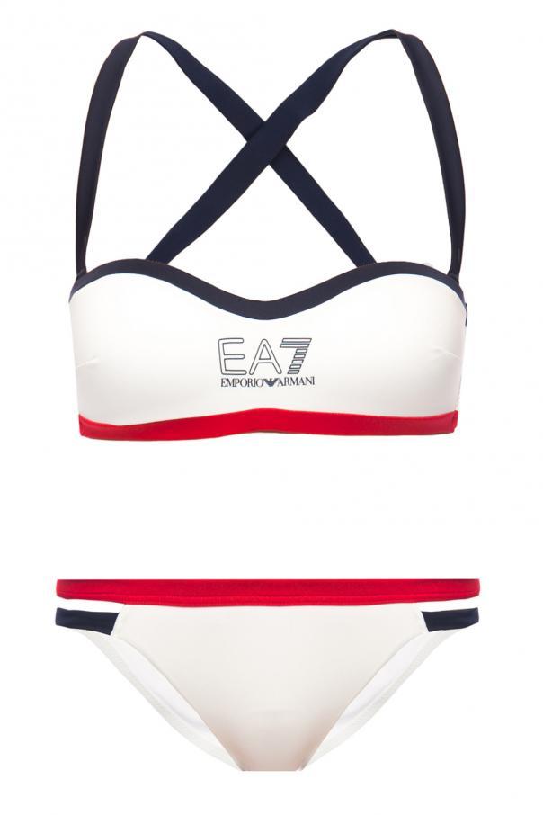 230af8222245cb Dwuczęściowy kostium kąpielowy EA7 Emporio Armani - sklep ...