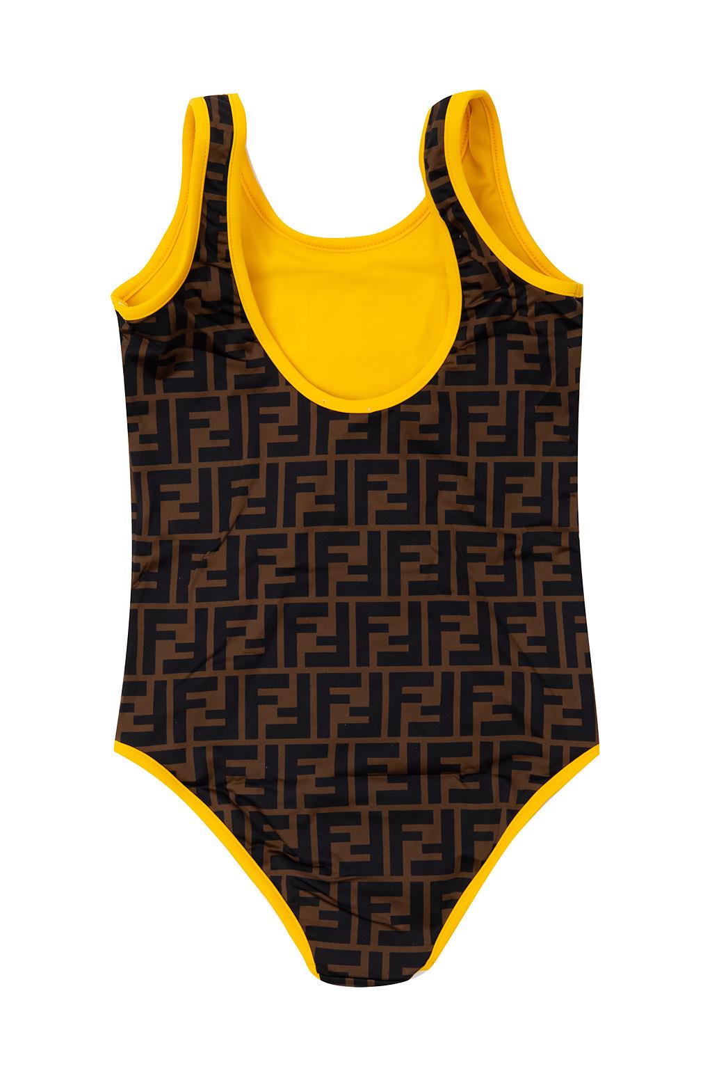 Fendi Kids Jednoczęściowy kostium kąpielowy