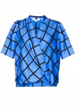 Checked top od Diane Von Furstenberg