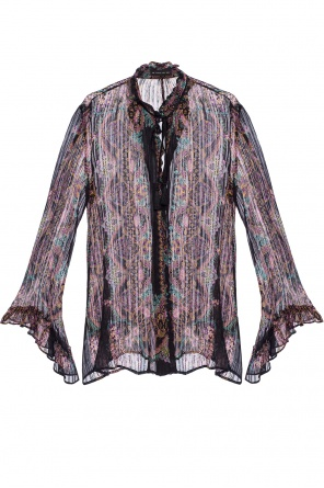 Patterned transparent shirt od Etro