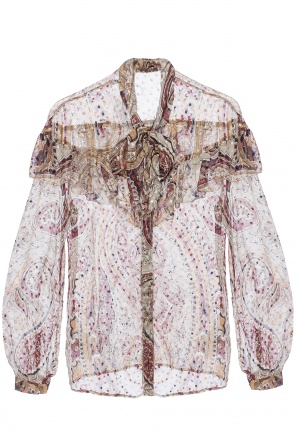 Patterned shirt with frills od Etro