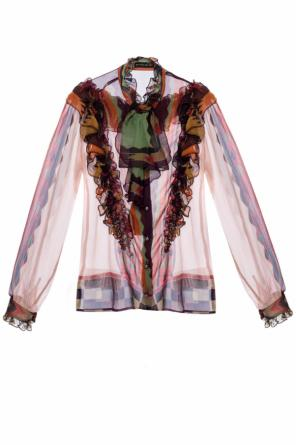 Patterned shirt with ruffles od Etro
