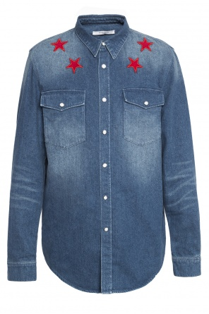 Embroidered denim shirt od Givenchy