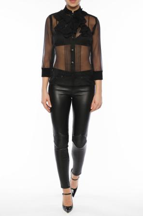 Sheer shirt with application od Givenchy