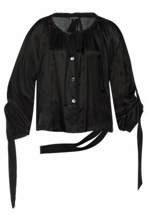 Top with grosgrain lacing od Ann Demeulemeester