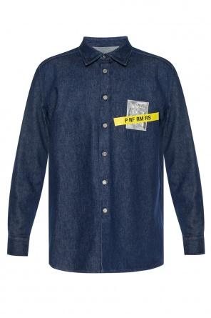 8aa11951f18 ... Denim shirt with appliqués od Raf Simons