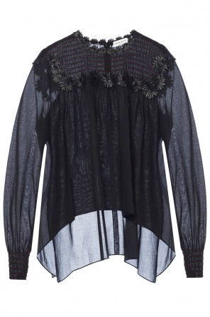 Appliqued asymmetrical top od Sonia Rykiel