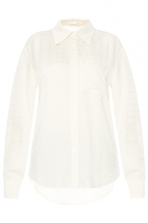 Logo-embroidered shirt od Sonia Rykiel