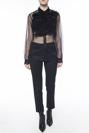 Sheer shirt with ruffle od Comme des Garcons Black