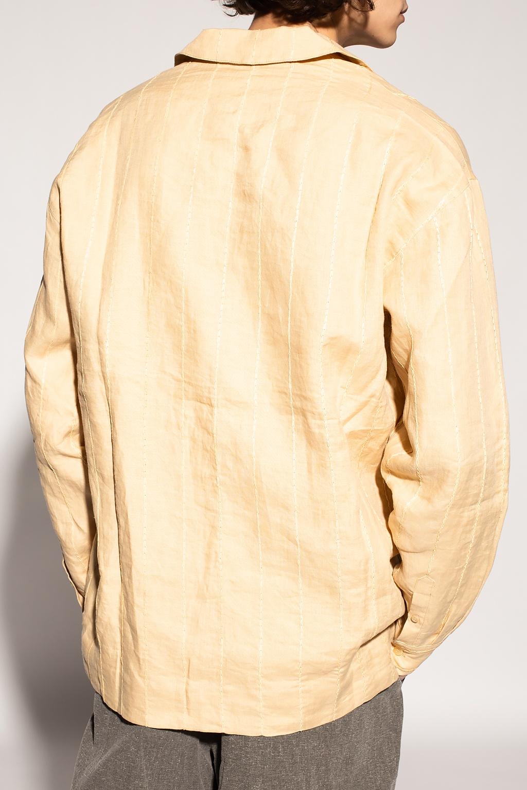 SHORT-sleeved beige CHEMISIER