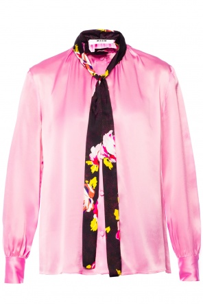 Shirt with decorative sash od MSGM