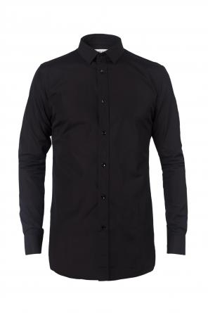 Black cotton shirt od Saint Laurent