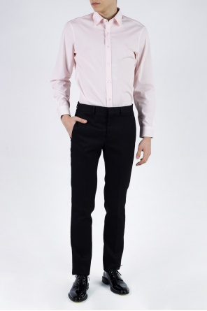 Embroidered logo shirt od Burberry