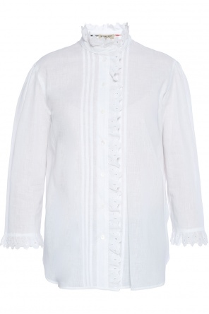 Openwork-trim shirt od Burberry