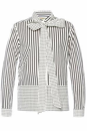 Lacing detail patterned shirt od Burberry
