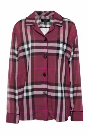 Checked oversize sheer shirt od Burberry