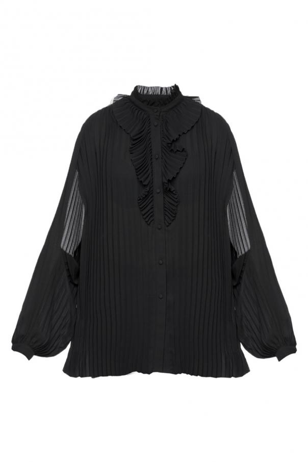 Pleated shirt with jabot od Balenciaga