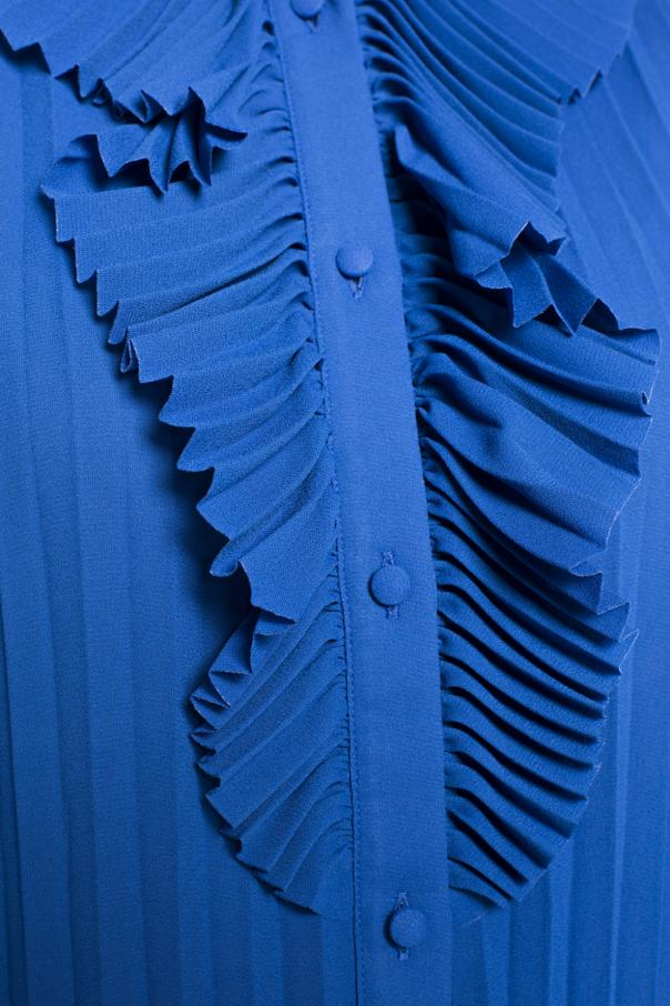 Pleated shirt with ruffle od Balenciaga