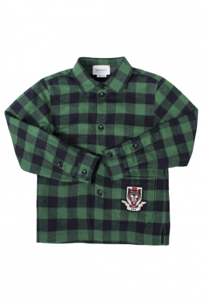 Checked shirt od Gucci Kids