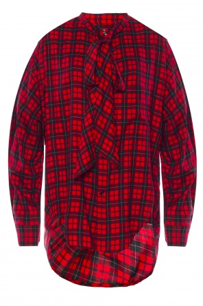Asymmetrical checked shirt od Balenciaga