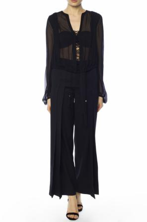 Sheer top with tassels od Saint Laurent