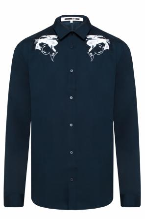 Shirt with embroidered pattern od McQ Alexander McQueen