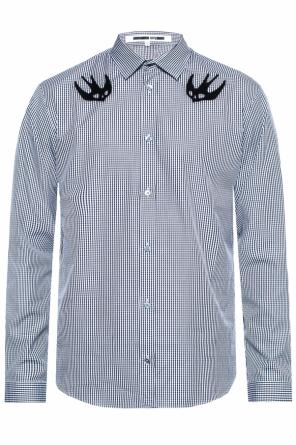 Checked shirt with a swallow motif od McQ Alexander McQueen