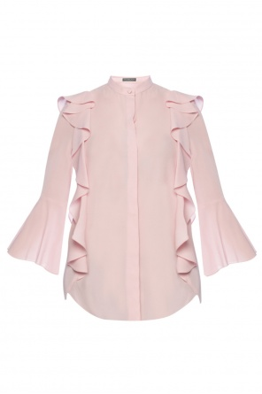 Silk top with frills od Alexander McQueen