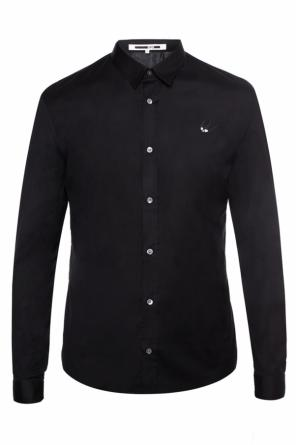 Shirt with a swallow motif application od McQ Alexander McQueen
