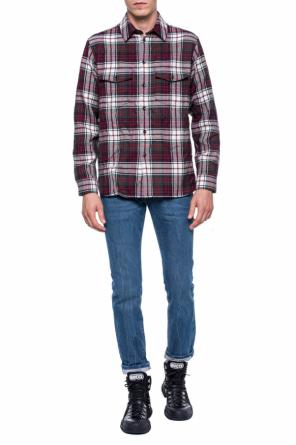 Asymmetrical checked shirt od Gucci