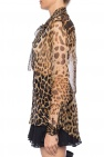 Saint Laurent Leopard print silk shirt