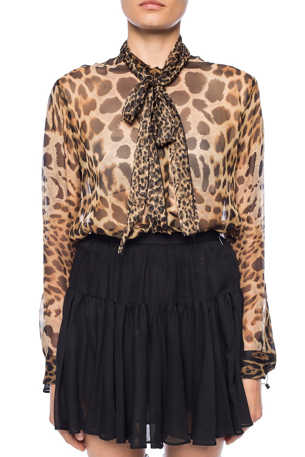 Saint Laurent Leopard print silk shirt