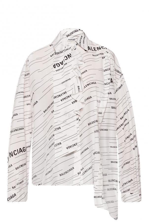 518ae9e47aca17 Logo-printed asymmetrical shirt Balenciaga - Vitkac shop online