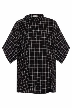 Asymmetrical check shirt od Balenciaga