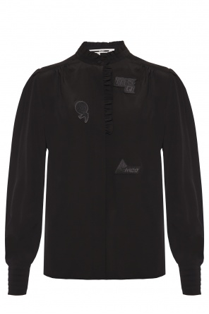 Silk shirt with patches od McQ Alexander McQueen