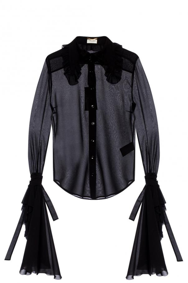 Top with ruffled sleeves od Saint Laurent