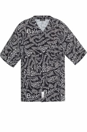 Logo-patterned shirt od Balenciaga