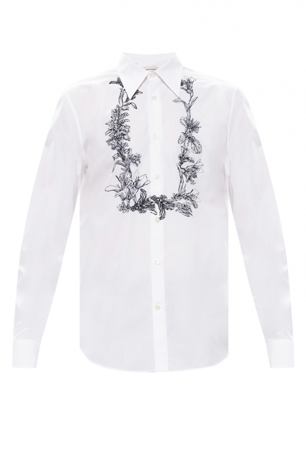 Alexander McQueen Embroidered shirt