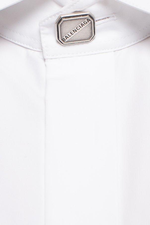 Balenciaga Koszula z krytą plisą VNp4Somk