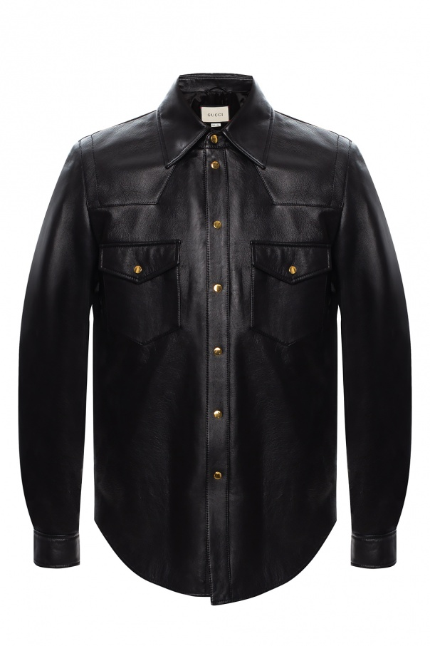 Gucci Leather shirt