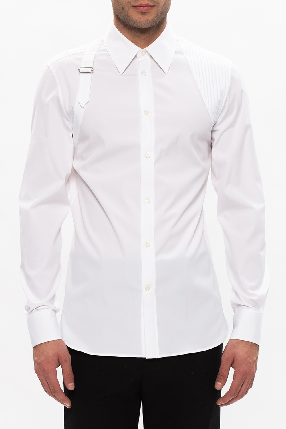 Alexander McQueen Shirt with decorative belt