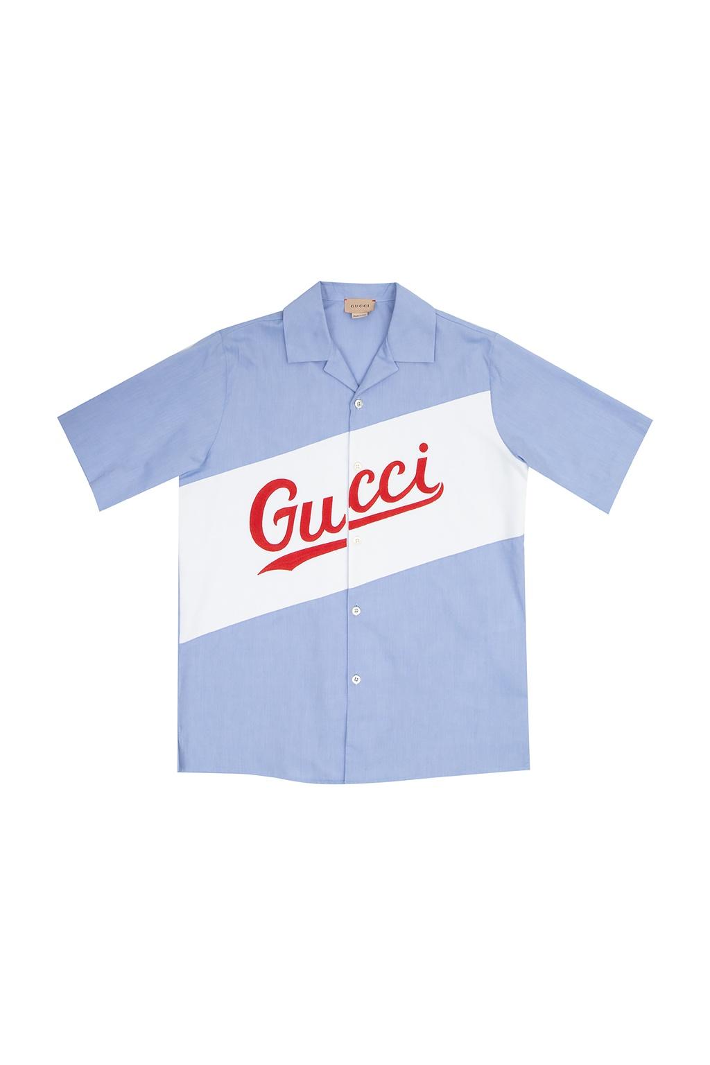 Gucci Kids Koszula z logo