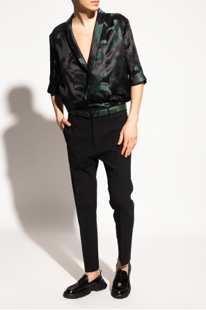 Patterned shirt with short sleeves od Saint Laurent